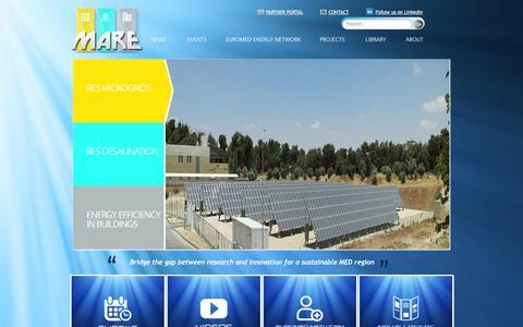 Screenshot of Home Page mare-euromed.eu - Home - captured Jan. 27, 2015