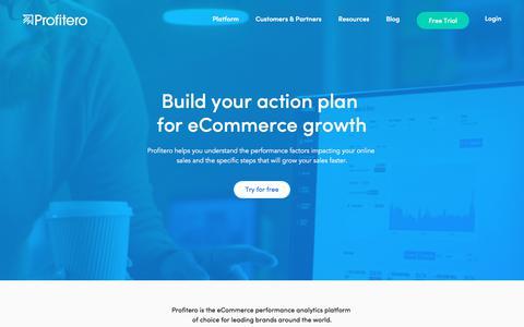 Screenshot of Home Page profitero.com - Better performance through ecommerce analytics - captured Sept. 13, 2018