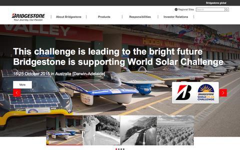 Screenshot of Home Page bridgestone.com - Bridgestone  Global Website - captured Oct. 20, 2015