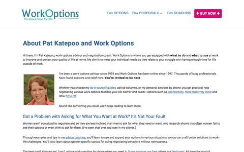 Screenshot of About Page workoptions.com - About Pat Katepoo and WorkOptions.com - captured Nov. 24, 2017