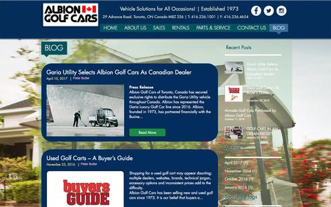 Screenshot of Blog albiongolfcars.com - albiongolfcars | BLOG - captured May 29, 2017