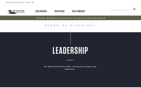Screenshot of Team Page johnsonoutdoors.com - Johnson Outdoors Leadership   Johnson Outdoors - captured Nov. 6, 2018