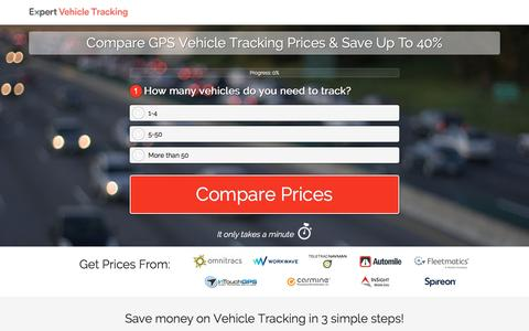 Screenshot of Landing Page expertmarket.com - Compare GPS Vehicle Tracking Devices For Fleet Cars - captured May 26, 2017