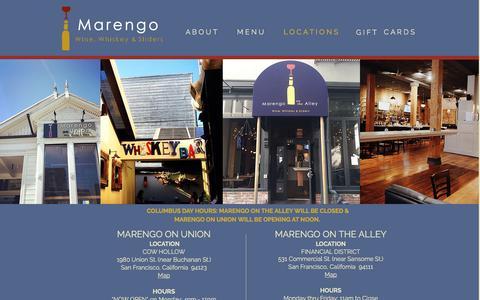 Screenshot of Locations Page marengosf.com - Marengo Locations - captured Oct. 5, 2017