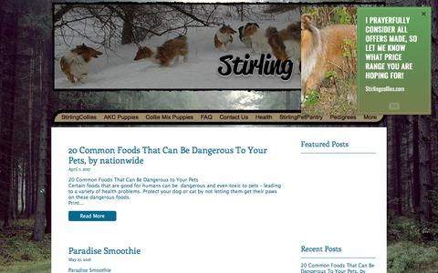 Screenshot of Blog stirlingcollies.com - Stirlingcollies - Blog - captured Sept. 21, 2018
