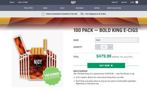 King Bold Electronic Cigarettes 100 Pack | NJOY