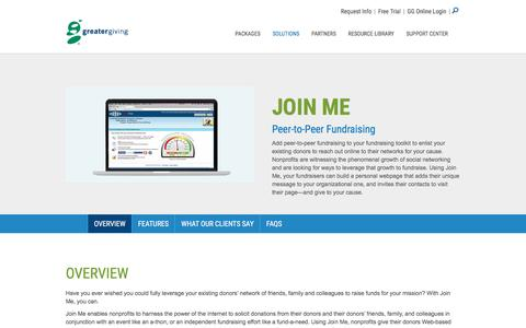 Join Me – Peer-to-Peer Product | Greater Giving - Greater Giving