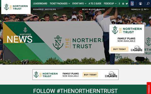Screenshot of Press Page pgatour.com - The Northern Trust: News - captured June 29, 2018