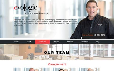 Screenshot of Team Page myevologic.com - Furniture Installation Company | Myevologic | Our Team - captured Sept. 30, 2018