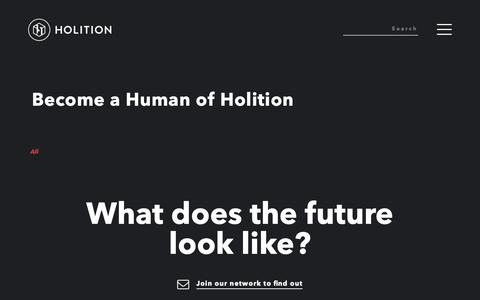Screenshot of Jobs Page holition.com - Jobs - captured Dec. 8, 2018
