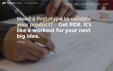 Screenshot of Home Page premierlogic.com - Home - Premier Logic - captured Jan. 6, 2016