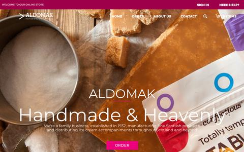 Screenshot of Home Page aldomak.co.uk - Home page - captured Oct. 3, 2018