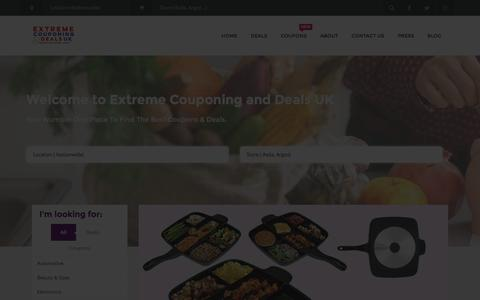 Screenshot of Home Page excoupuk.com - Extreme Couponing and Deals UK | Daily Coupons, Deals & Discounts - captured Jan. 17, 2016