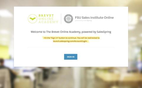 Screenshot of Login Page thebrevetgroup.com - Sign-In | Brevet Online Academy - captured Oct. 26, 2014