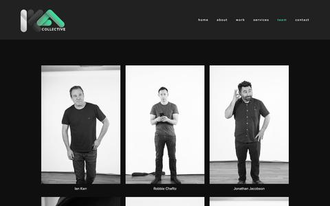 Screenshot of Team Page ikacollective.com - team — IKA Collective - captured July 18, 2018