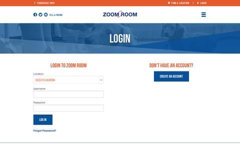 Screenshot of Login Page zoomroomonline.com - Login   Zoom Room Dog Training - captured Jan. 14, 2016