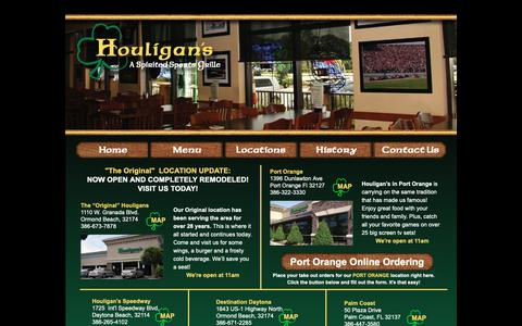 Screenshot of Locations Page wallywings.com - Houligan's Area Locations - captured Sept. 29, 2018