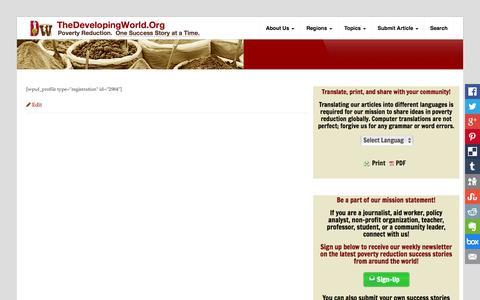 Screenshot of Signup Page thedevelopingworld.org - Register | - captured Nov. 4, 2014