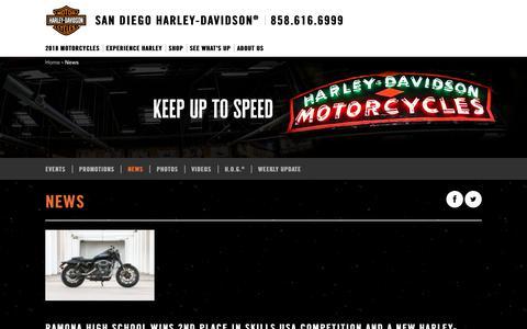 Screenshot of Press Page sandiegoharley.com - News | San Diego Harley-Davidson® - captured Oct. 5, 2017