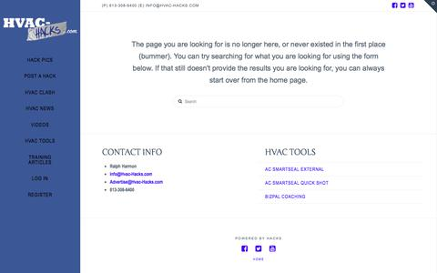 Page not found | HVAC Hacks