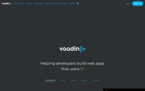 Screenshot of About Page vaadin.com - Company   Vaadin - captured June 26, 2019