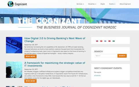 The Cognizant - The Business Journal of Cognizant Nordic