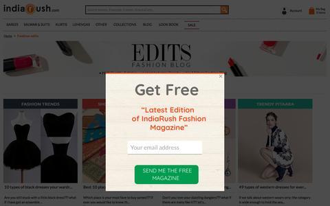 Screenshot of Blog indiarush.com - Best Fashion Edits: Fashion Theme, Style, Inspiration - Everyday - Indiarush - captured May 21, 2017