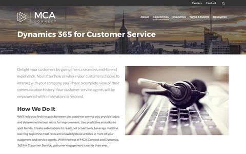 Screenshot of Support Page mcaconnect.com - Dynamics 365 for Customer Service - MCA Connect - captured June 30, 2017