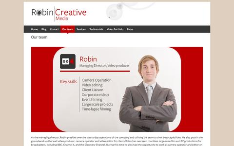 Screenshot of Team Page robincreativemedia.com - Our team | Robin Creative Media - captured Sept. 30, 2014
