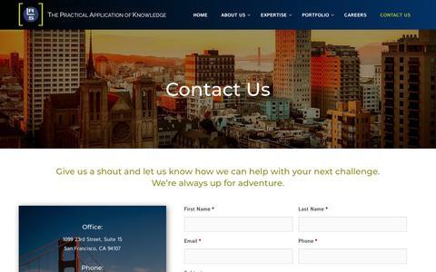 Screenshot of Contact Page rls.com - Technology Program Managers San Francisco | RLS - captured Nov. 16, 2018