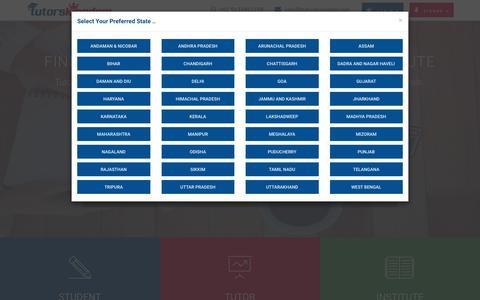 Screenshot of Home Page tutorskingdom.com - Online Tutors   Online Tuition Teachers   Home Tutors– Tutors Kingdom - captured Oct. 18, 2018