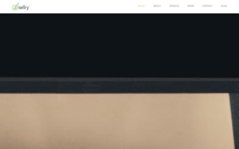 Screenshot of Home Page sellry.com - SELLRY Ease-Commerce - captured Sept. 30, 2014
