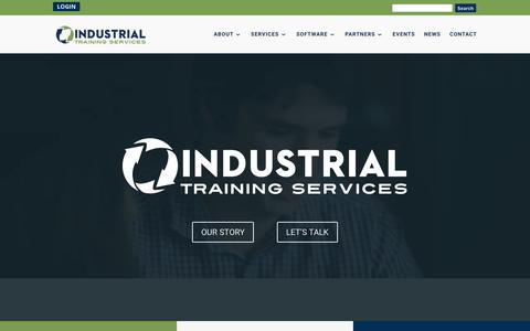 Screenshot of Home Page its-training.com - Industrial Training Services | Natural Gas, Propane, Hazardous Liquid, and Training - captured May 21, 2018