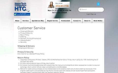 Screenshot of Support Page hypertechcomputer.com - HyperTech Computers and Cellphone Repair | Customer Services - captured Sept. 11, 2017