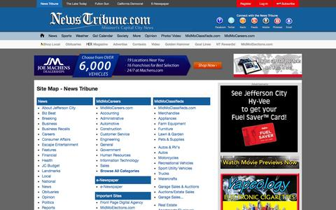 Screenshot of Site Map Page newstribune.com - Site Map - News Tribune | News Tribune - captured Nov. 3, 2014
