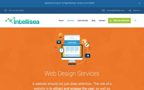 Screenshot of intellisea.com - Services: Web Design | Intellisea - captured Sept. 20, 2016