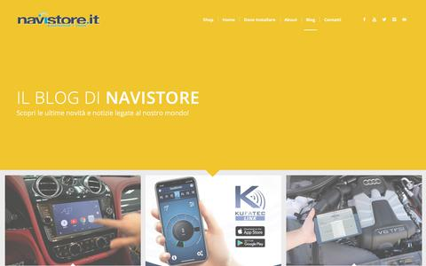 Screenshot of Blog navistore.it - Blog - NaviStore - captured Nov. 15, 2018