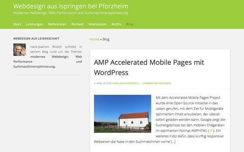 Screenshot of Blog easy-contact.de - Blog über Webdesign und Web Performance - captured June 11, 2016