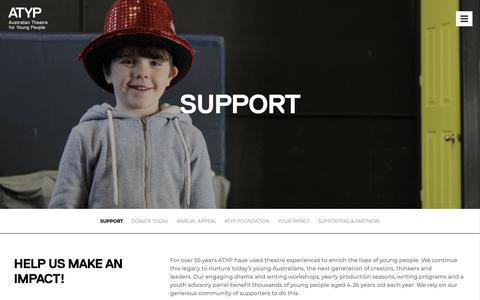 Screenshot of Support Page atyp.com.au - Support - ATYP - captured Oct. 30, 2018
