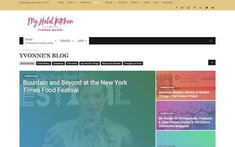 Screenshot of Blog myhalalkitchen.com - YVONNE'S BLOG Archives - My Halal Kitchen by Yvonne Maffei- - captured Nov. 6, 2019