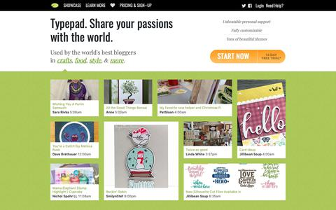 Screenshot of Home Page typepad.com - Typepad. Share your passions with the world. - captured March 26, 2019
