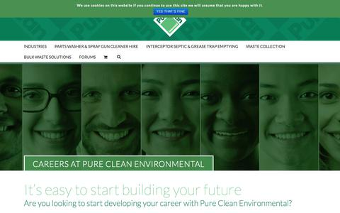 Screenshot of Jobs Page pureclean.co.uk - Careers - Pure Clean - captured Sept. 19, 2017