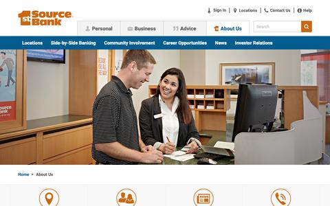 Screenshot of About Page 1stsource.com - About Us | 1st Source Bank - captured Nov. 10, 2018
