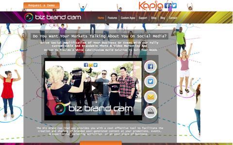 Screenshot of Home Page bizbrandcam.com - Biz Brand Cam // Social Branded Photo & Video Marketing App - captured Nov. 27, 2016