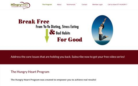 Screenshot of Signup Page thehungryheart.org - End Yo Yo Dieting with The Hungry Heart Program - captured Dec. 16, 2016