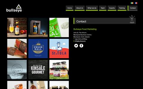 Screenshot of Contact Page bullseye.ie - Contact | Bullseye Food Marketing - captured March 17, 2016