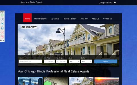 Screenshot of Home Page johncapiak.com - Chicago, Illinois Real Estate | John and Stella Capiak | Real Estate Agent | Chicago, Illinois Homes For Sale - captured Jan. 31, 2016