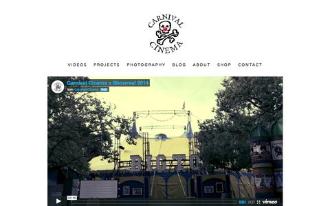 Screenshot of Home Page carnivalcinema.com.au - Carnival Cinema - captured Sept. 22, 2015