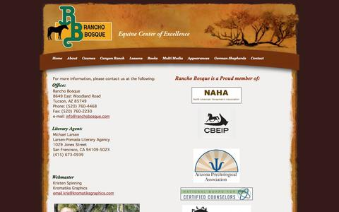 Screenshot of Contact Page Maps & Directions Page ranchobosque.com - Rancho Bosque Equestrian Center - captured Oct. 7, 2014