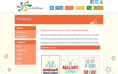 Screenshot of Products Page artofbrilliance.co.uk - Art of Brilliance brought to you by Andy Cope | Featured Products - Art of Brilliance - captured Sept. 30, 2014